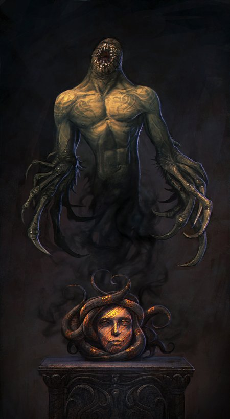 Daniil Kozlovsky artstation ilustrações fantasia arte conceitual terror surreal sombrio infernal
