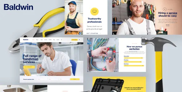 Best Handyman & Repair Services Elementor Template Kit