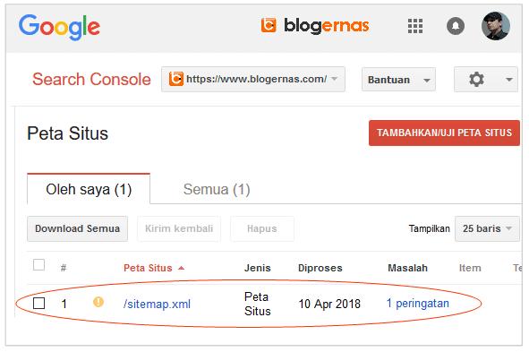 Sebab & Solusi Error Peta Situs di Google Search Console
