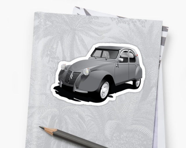 Citroën 2CV sticker