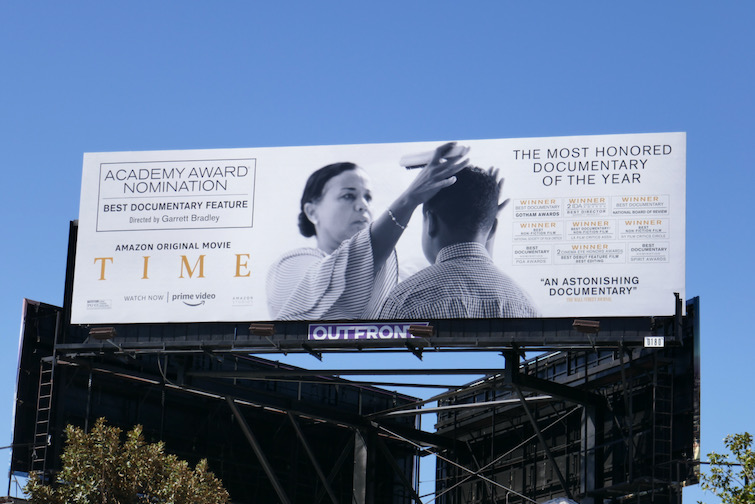 Time documentary Oscar billboard