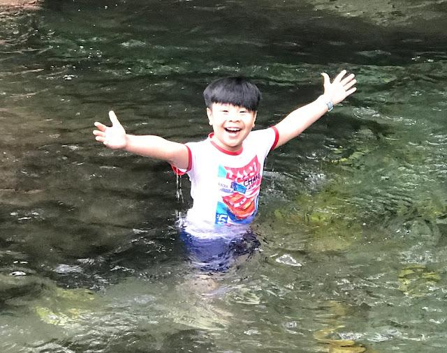 Prince swimming at Orani River Bataan