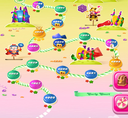 Candy Crush Saga level 4086-4100