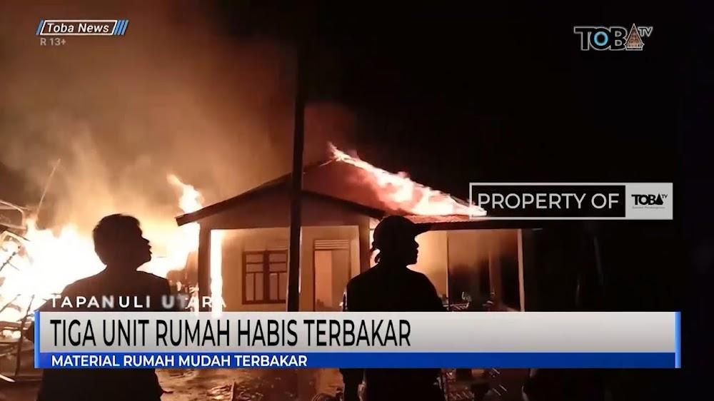Hanya Kurun Waktu Satu Jam Tiga Unit Rumah Ludes Di lahap Sijago Merah Di Silantom Kecamatan Pangaribuan