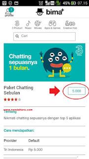 Paket Chat 3 Unlimited Termurah 2020