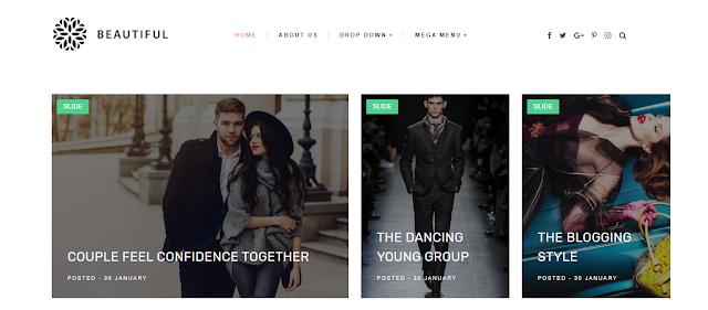 Beautiful blogger theme
