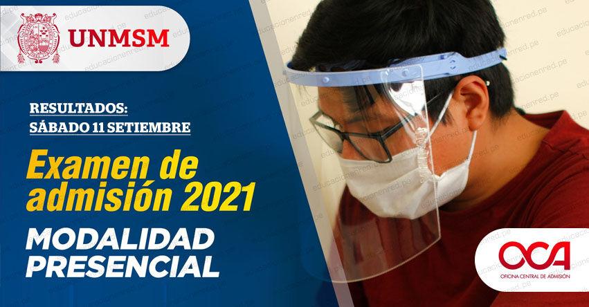 Resultados UNMSM 2021 (Sábado 11 Septiembre) Lista de Ingresantes - Examen de Admisión Presencial - Área de Ciencias de la Salud - Universidad Nacional Mayor de San Marcos - www.unmsm.edu.pe