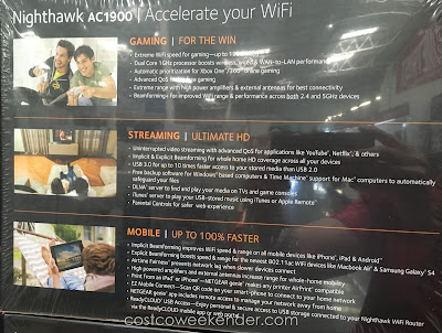 Netgear Nighthawk AC1900 Smart WiFi Router (model R6900): great for streaming Netflix movies, gaming, email, etc