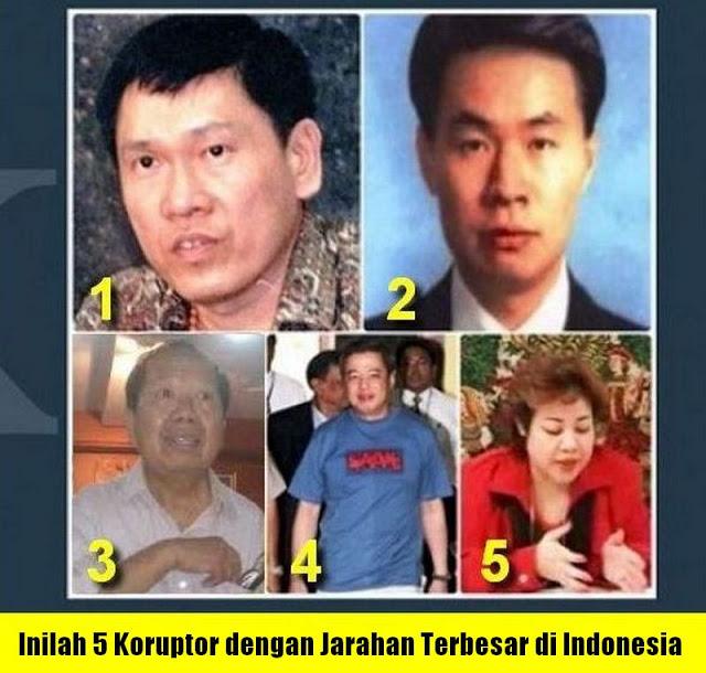 Inilah 5 Koruptor dengan Jarahan Terbesar di Indonesia, Adakah Yang Kadrun?.