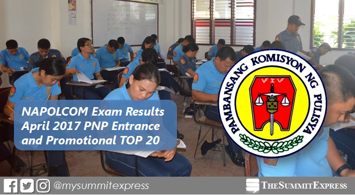 Top 20 Passers: April 2017 NAPOLCOM Exam results out
