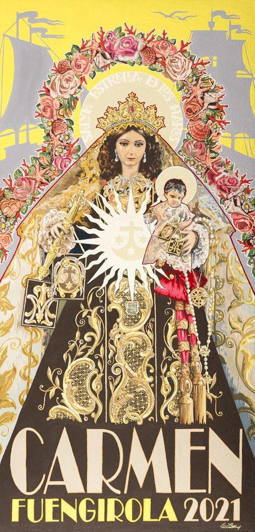 Cartel de la Nuestra Señora del Carmen en Fuengirola 2021