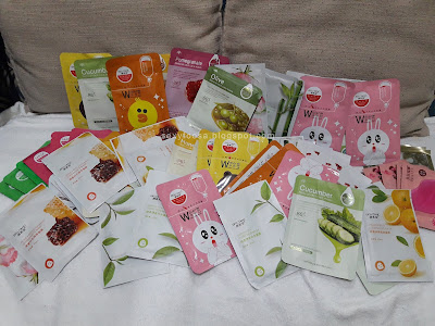 my sheet mask collection good for 2 months supply by sexy foosa