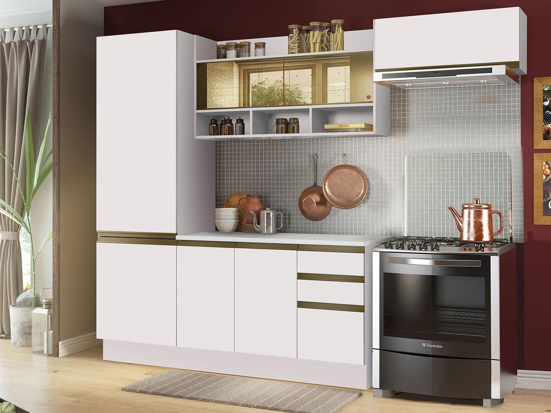 Cozinha Compacta Madesa New Glamy Com Balc O 7 Portas 2 Gavetas