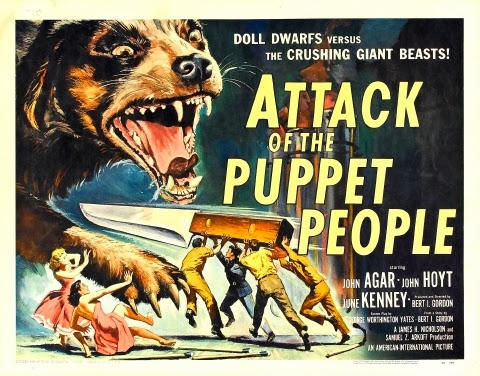 Poster - Attack of the Puppet People (1958)