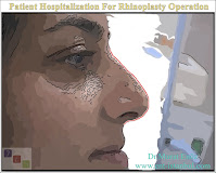 Patient admission on the day of surgery,Patient hospitalization for rhinoplasty operation,Hospital contact information for rhinoplasty in Istanbul,