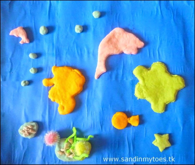 Play dough underwater scene
