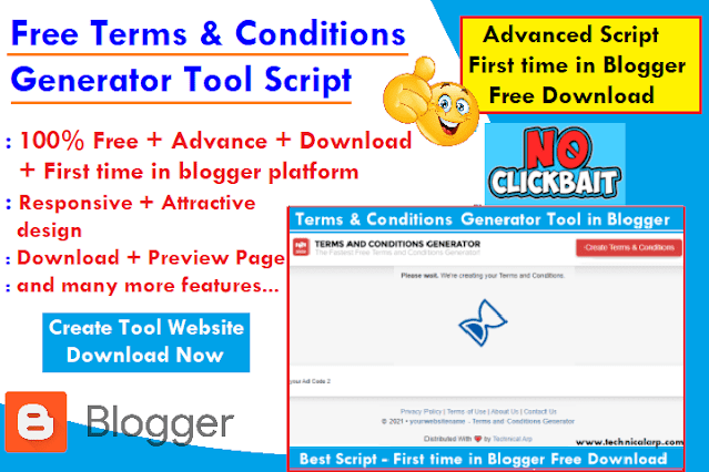 free terms and conditions generator website script