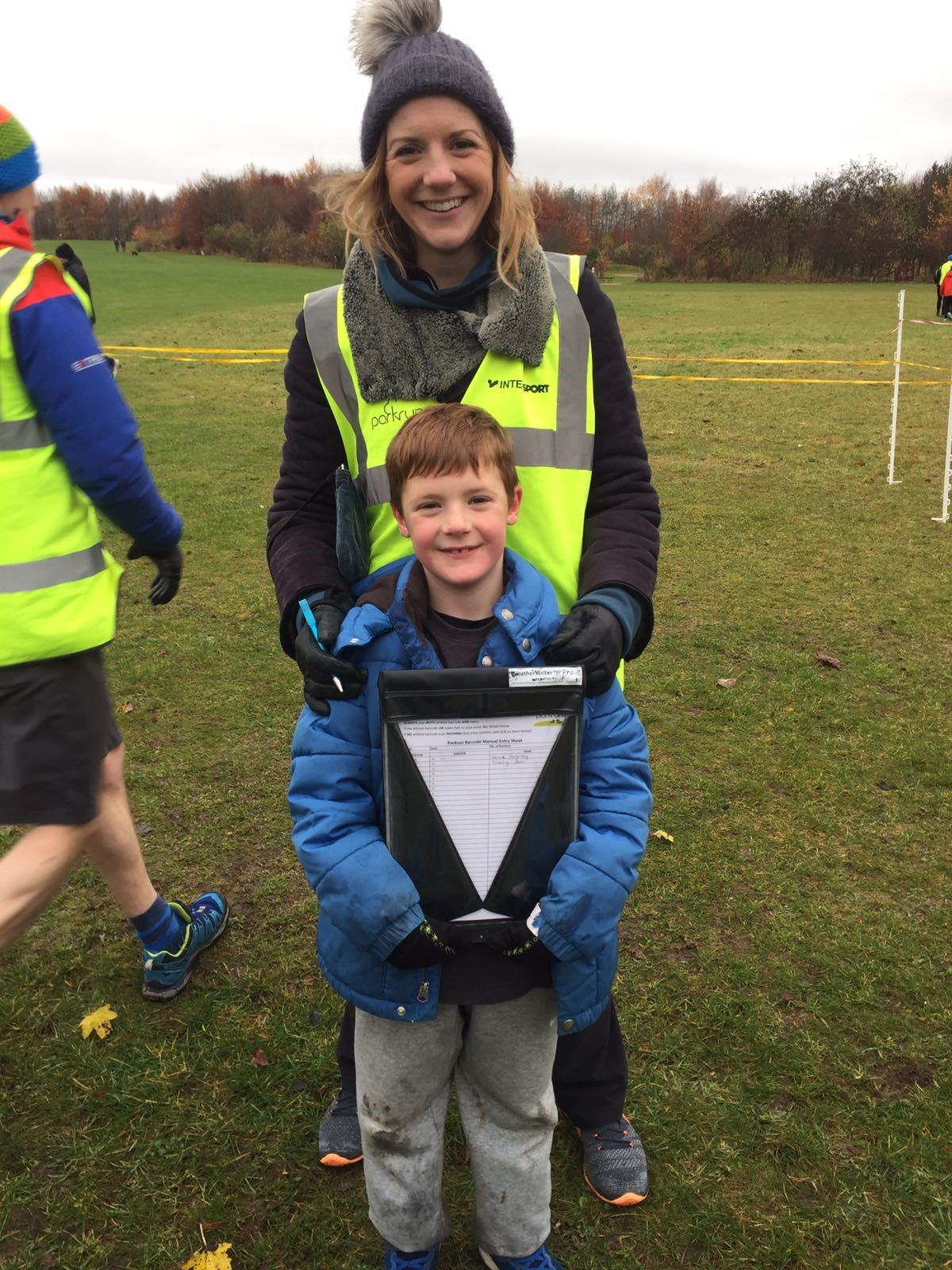 Lucy and her son, Ted, after running in Rushcliffe's Junior Park Run.