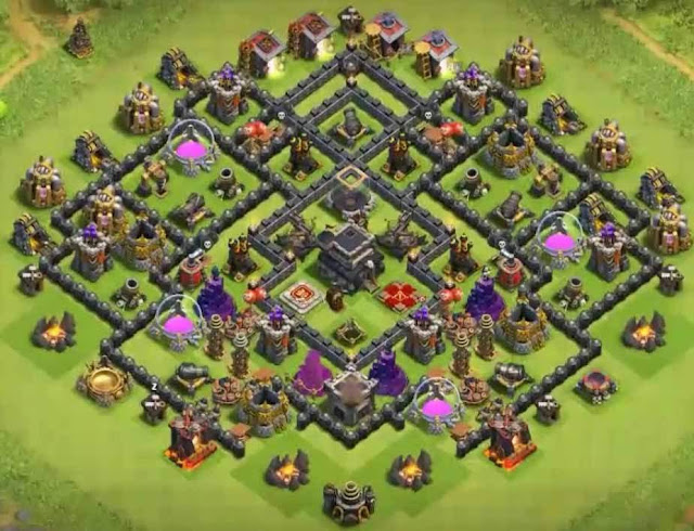Base COC TH9 Trophy 9