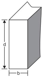 ENEM 2011: A resistência das vigas de dado comprimento é diretamente proporcional à largura (b) e ao quadrado da altura (d), conforme a figura.