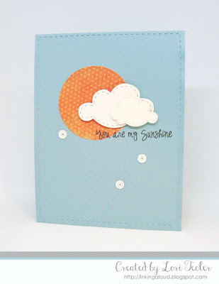 You Are My Sunshine card-designed by Lori Tecler/Inking Aloud-stamps and dies from Lil' Inker Designs