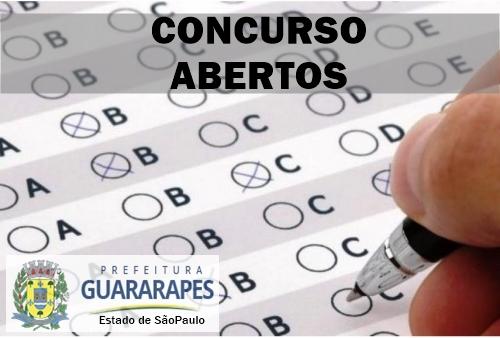 Prefeitura de Guararapes abre inscrições para concurso público