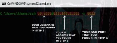 Termux SSH : Use Termux in Windows Using SSH Server