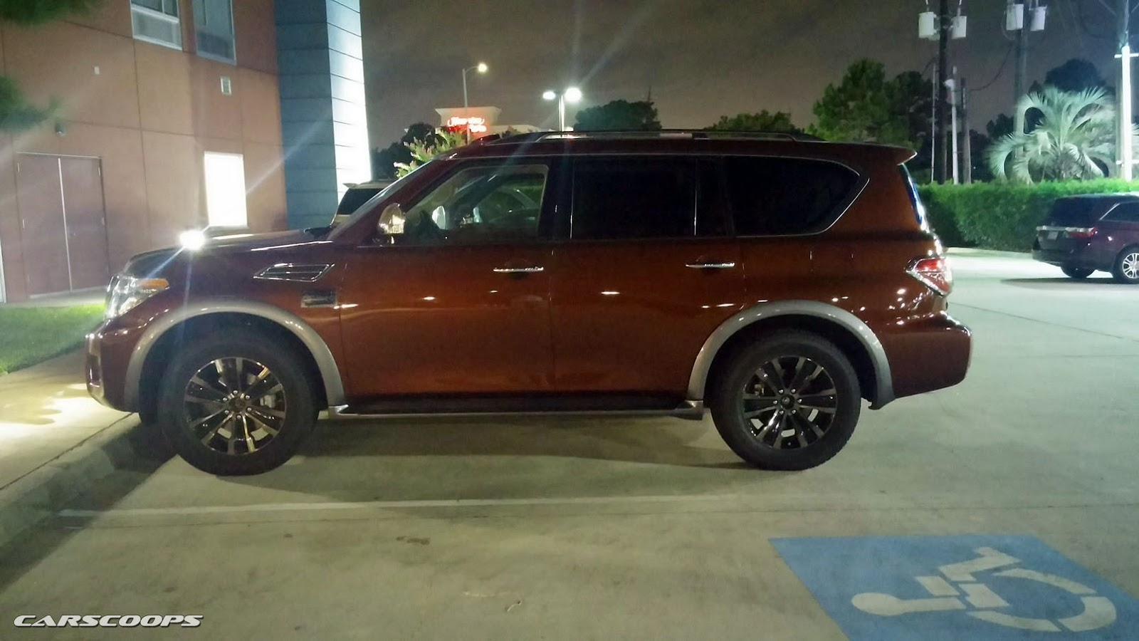 2017 nissan armada snapped by reader hanging out in houston. Black Bedroom Furniture Sets. Home Design Ideas