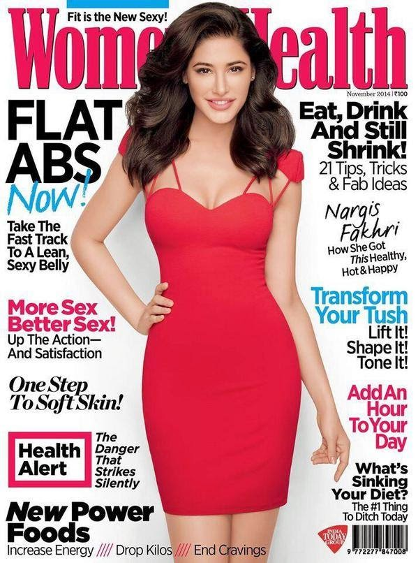 Nargis Fakhri flaunts her perfect body on the cover of Women's Health magazine