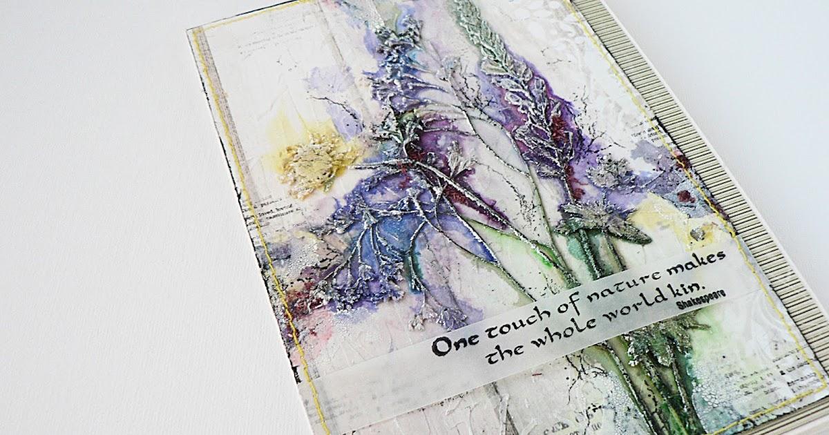 Днем, сухоцветы на открытках