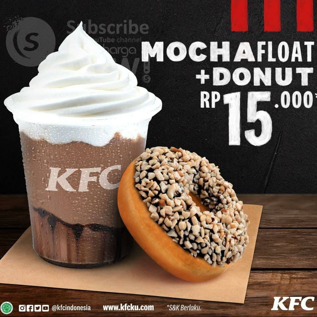 Promo KFC Mocha Float + Donut harga cuma Rp. 15.000