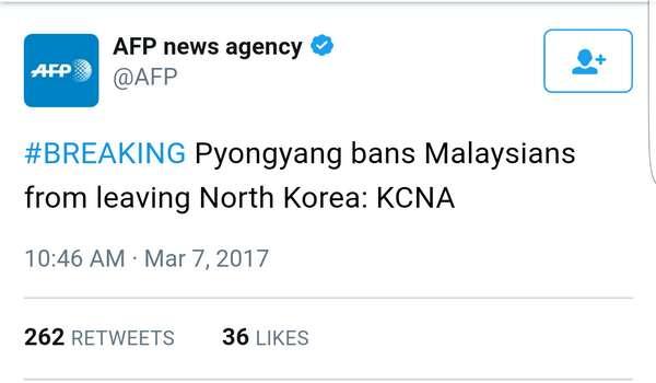 Pyongyang Larang Rakyat Malaysia Tinggalkan Korea Utara