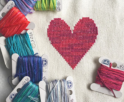 heart embroidery floss