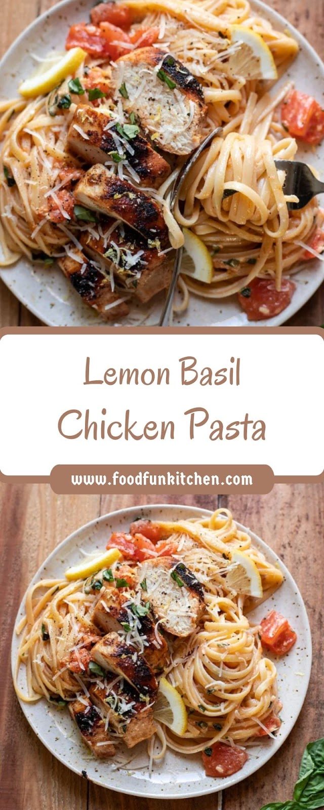 Lemon Basil Chicken Pasta