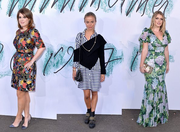 Princess Eugenie, Lady Kitty Spencer and Amelia Windsor attended the Serpentine Galleries Summer Party at the Serpentine Gallery