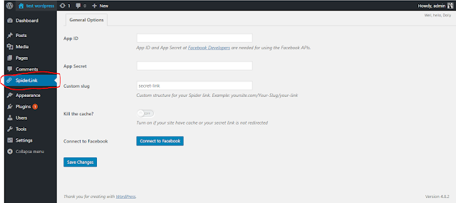 install and customize facebook spiderlink