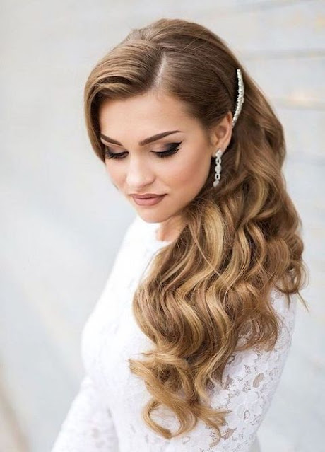 Side Swept Curled Hairstyle