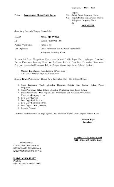 Contoh surat Permohonan ke Bupati (via: slideshare.net)