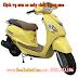 Sơn xe máy Attila Elizabeth màu vàng zin cực đẹp