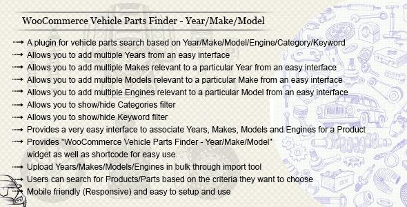 WooCommerce Vehicle Parts Finder v3.4