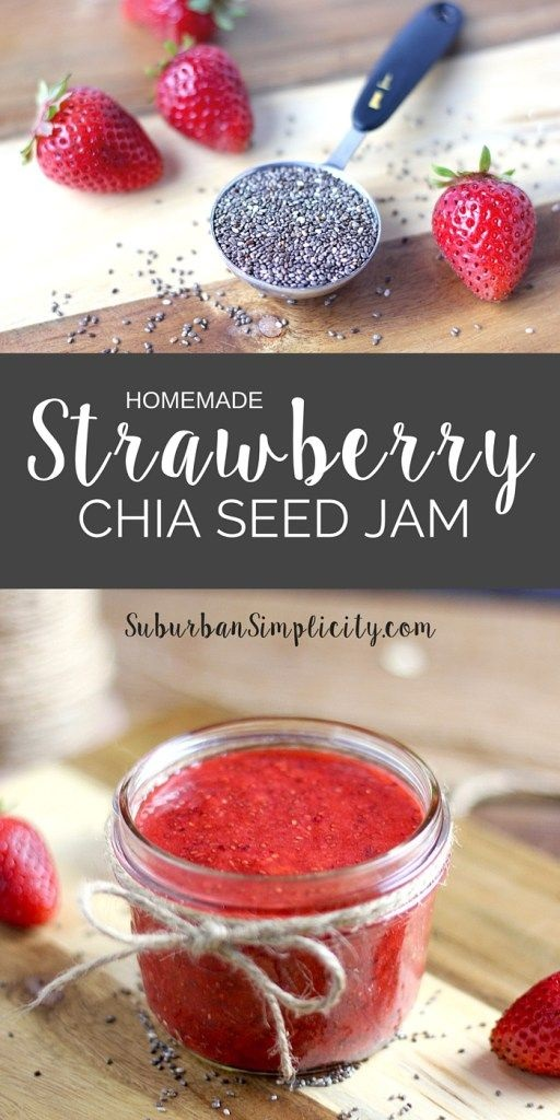 Homemade Strawberry Chia Seed Jam