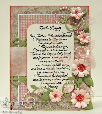 Our Daily Bread Designs Stamp Set: For Thine is the Kingdom, Our Daily Bread Designs Paper Colelction: Shabby Rose, Our Daily Bread Designs Custom Dies: Birds and Nest, Deco Border, Fancy Foliage, Pretty Posies