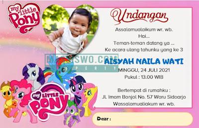 Kartu undangan ulang tahun anak perempuan