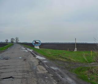 Дорога Дібрівка-Миргород. В'їзний знак