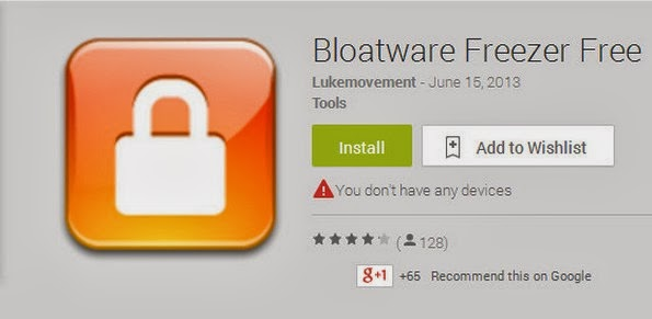 Bloatware Freezer Android app to remove unwanted apps