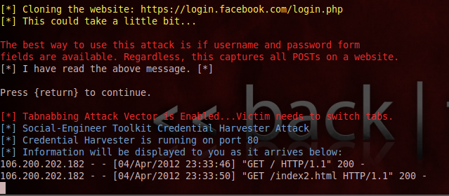 How to Hack Facebook ,Gmail account using Backtrack