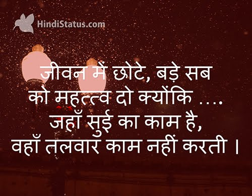 Give Importance to Everything - HindiStatus