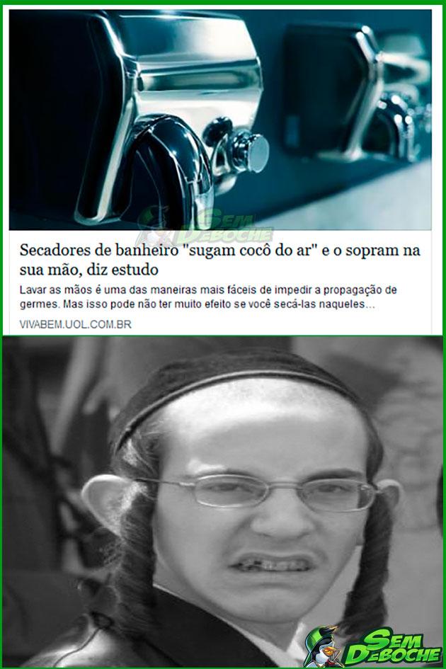 FICA COM A MÃO MOLHADA MESMO