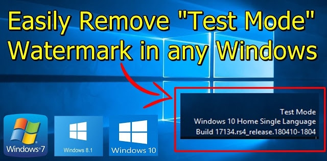 How to Remove Test Mode Watermark in Windows 10