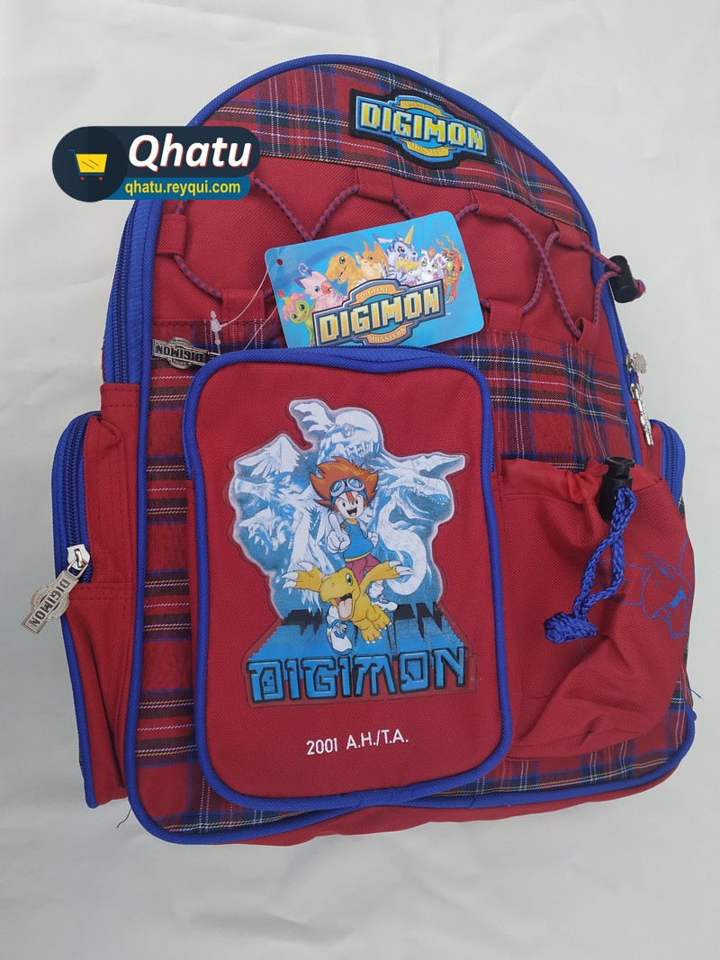 (Bs. 85) Mochila Digimon: Tamaño carta